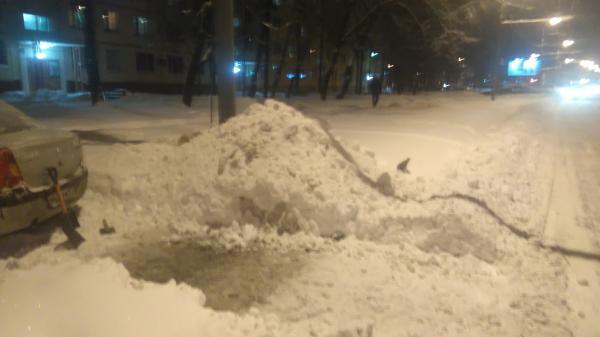 парковка в снегу